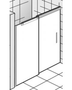 Ben Futura Nisschuifdeur 160x200 cm toepasbaar R/L Chroom / Helder Glas