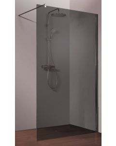Ben Moon Walk-in Douchewand 100x200cm RVS-look/Grijs Glas