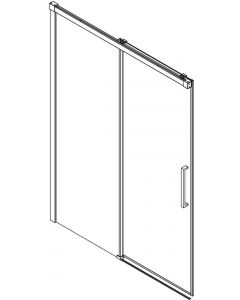 Ben Smooth Nisdeur Links 118-120,5x210 cm Helder glas Chroom-look