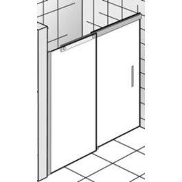 Ben Futura Nisschuifdeur 140x200 cm toepasbaar R/L Chroom / Helder Glas