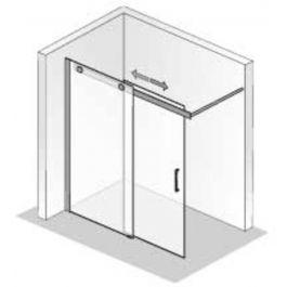 Ben Futura Schuifdeur voor bij bad 120x200 cm toepasbaar R/L Chroom / Helder Glas