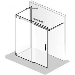 Ben Futura Schuifdeur voor bad met zijwand 120 x 200 cm toepasbaar R/L chroom / helder glas