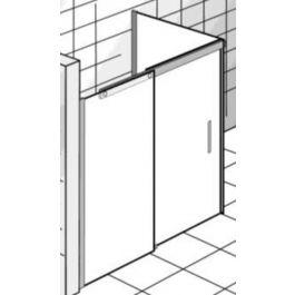 Ben Futura Schuifdeur icm zijwand 120x90x200 cm toepasbaar R/L Chroom / Helder Glas