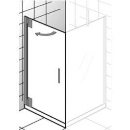 Ben Futura Draaideur icm zijwand 80x200 cm toepasbaar R/L Chroom / Helder Glas