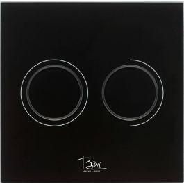 Ben Pure Drukplaat Pneumatisch 16x16 cm Glas Zwart