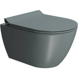 Ben Segno Wandcloset Dual Free Flush 36x55x33,5 cm Donker Groen