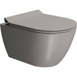 Ben Segno Wandcloset Compact Free Flush, incl. bevestiging 36x50x33,5 cm Beton Grijs