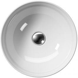 Ben Stilo keramische opbouwwastafel Ø 40 cm wit Xtra Glaze