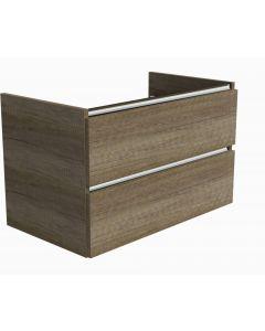 Ben Limara Wastafelonderkast 2 laden, 80x44,5x50 cm, Nebraska Eiken alu
