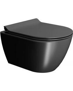 Ben Segno Wandcloset Compact Free Flush, incl. bevestiging 36x50x33,5 cm Mat Zwart