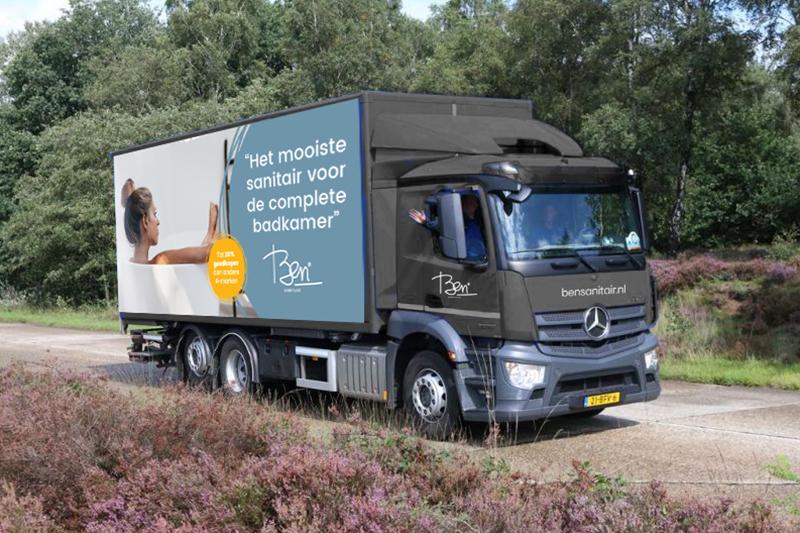 Ben Sanitair vrachtwagen